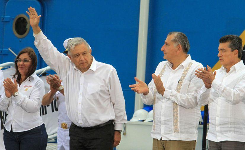 El presidente López Obrador visitará mañana Playa del Carmen, para verificar el avance de obras federales. (Foto: Agencia Notimex).
