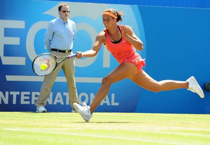 Madison Keys derrotó por parciales de 6-3, 3-6, 7-5 a Angelique Kerber en la final de Eastbourne. (Foto: AP)