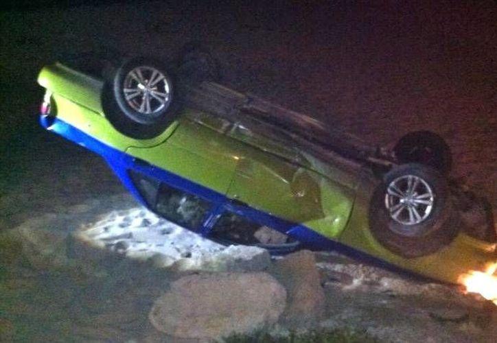 La dirección de Tránsito municipal no fue notificada sobre este accidente. (Redacción/SIPSE)