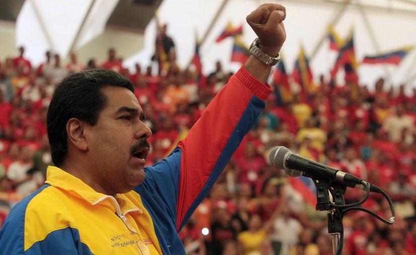 Nicolás Maduro abrió hoy su campaña para las elecciones del 14 de abril. (EFE)