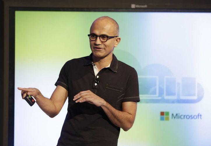 Satya Nadella, director ejecutivo de Microsoft Corp, presentó la aplicación en un evento en San Francisco. (Agencias)