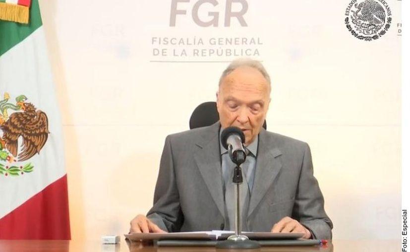 El Fiscal General de la República, Alejandro Gertz Manero informó hoy que Emilio Lozoya aceptó ser extraditado a México. (Agencia Reforma)