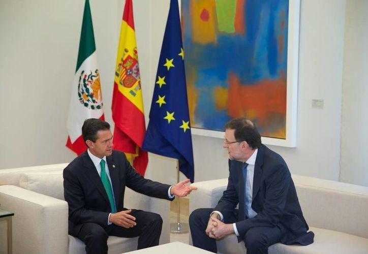 En la imagen el presidente de México, Enrique Peña Nieto y el mandatario español, Mariano Rajoy.  (presidencia.gob.mx)