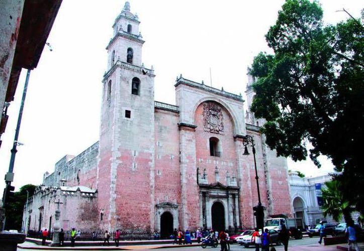 La Catedral fue de todos los candidatos el más votado en cuanto a Tesoros del Patrimonio Cultural de Mérida. (Foto de Milenio Novedades)