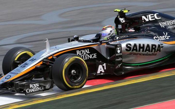 El mexicano Sergio 'Checo' Pérez se clasificó séptimo en su Force India. (Foto: Contexto/Internet)