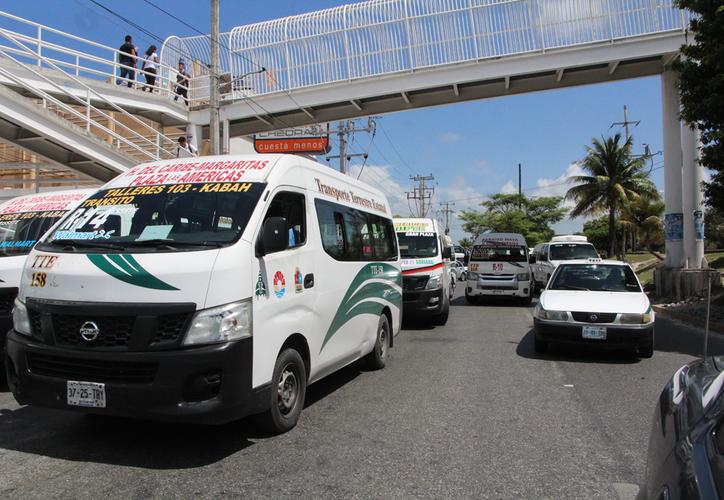 La decisión de reubicarlas fuera del primer cuadro fue de la Secretaría de Infraestructura y Transporte. (Paola Chiomante/SIPSE)