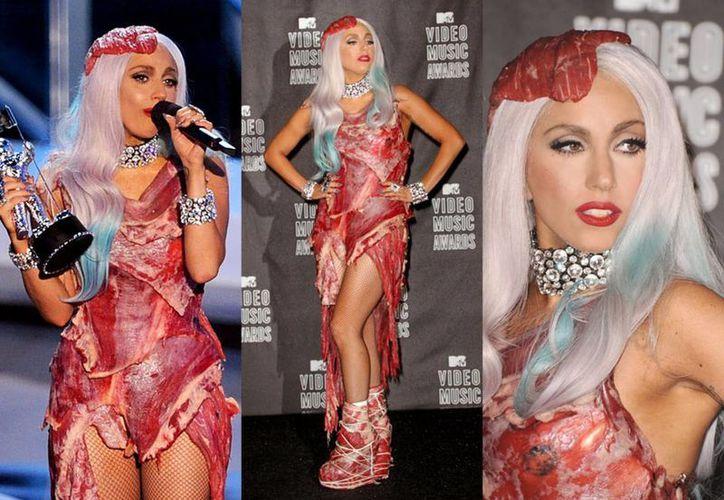 El Salón de la Fama del Rock and Roll de Cleveland anunció que el vestido de carne de Lady Gaga estará en exposición hasta fines de año. (entremodelos.com)