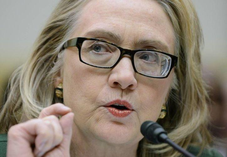 Hillary Clinton: 'por supuesto que quiero ver una mujer en la Casa Blanca'. (EFE)