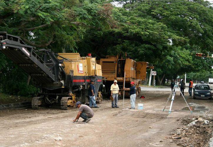 El Ayuntamiento comenzó hace unas semanas las obras en la calle 60. (Milenio Novedades)