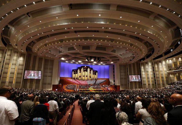 En Salt Lake City, capital mormona, se desarrolla la 184 Conferencia General anual de la Iglesia de los Santos de los Últimos Días. (EFE)