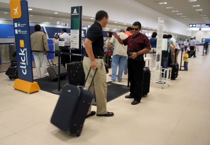 La terminal aérea de Mérida sabe cómo enfrentar contingencias. (Milenio Novedades)