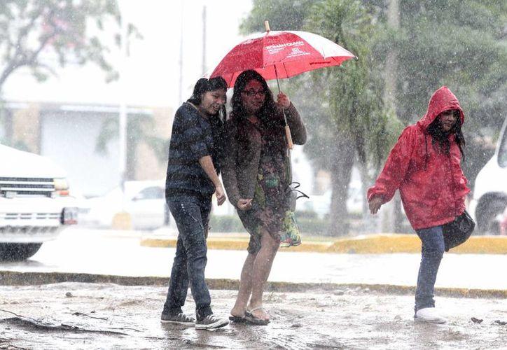 El Servicio Meteorológico Nacional espera lluvias puntuales muy fuertes en Veracruz y Yucatán. (Notimex)