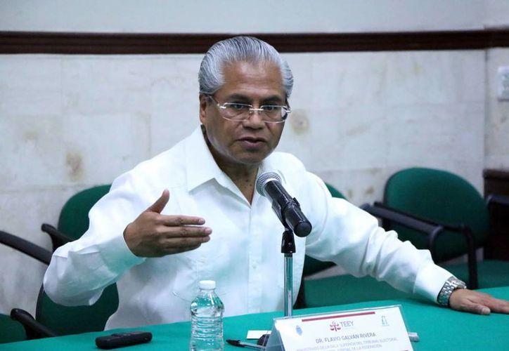 El magistrado Flavio Galván Rivera hizo un llamado a los diputados. (José Acosta/SIPSE)