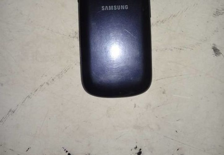 El celular fue recuperado. (Redacción/SIPSE)