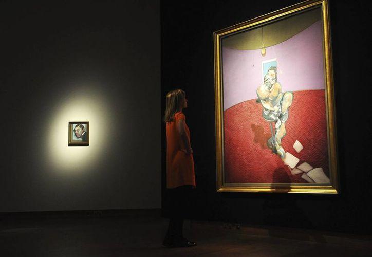 """La obra """"Retratos de George Dyer Hablando"""" del artista británico Francis Bacon. (EFE/Archivo)"""