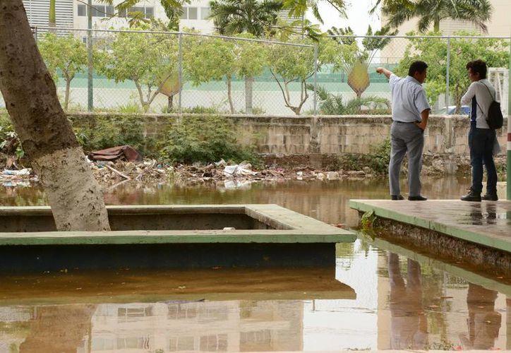 Esperan que el agua desaparezca lo más pronto posible. (Victoria González/SIPSE)