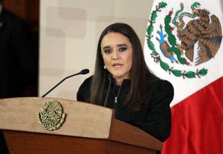 Alejandra Sota afirmó que con la conclusión de la Secretaría de la Función Pública queda comprobado que siempre ha vivido de su trabajo. (Archivo/Notimex)