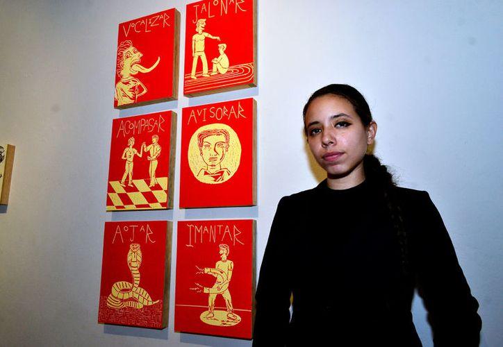 Las obras de Marisol Castro son realizadas con la técnica del grabado con relieve en linóleo. (D. Sandoval/ Milenio Novedades)