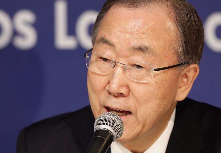 El secretario general de la ONU, Ban Ki-moon, solicitó a Irán mediar diplomáticamente en la guerra civil que asola a Siria. (EFE)