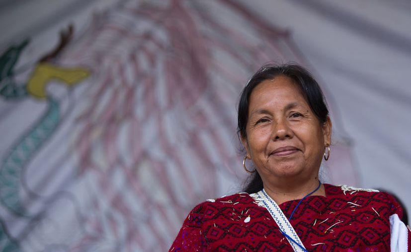 María de Jesús Patricio obtuvo el 94.5% de firmas validadas por el INE. (Foto: The HuffPost)