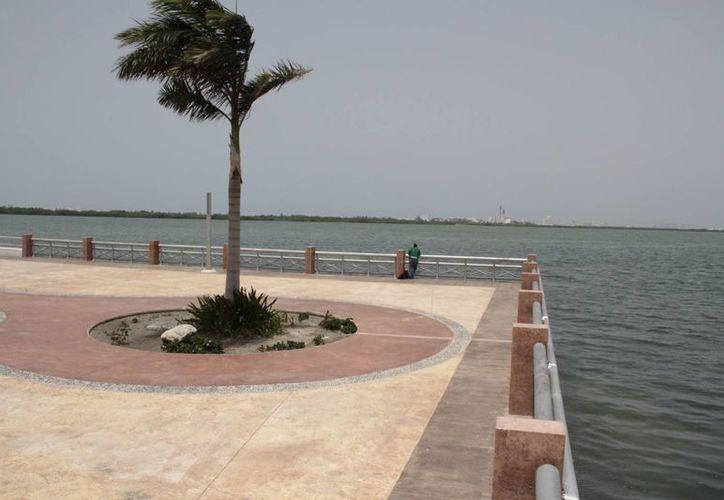 La zona del Malecón Tajamar es adecuada para la construcción de la estructura. (Tomás Álvarez/SIPSE)