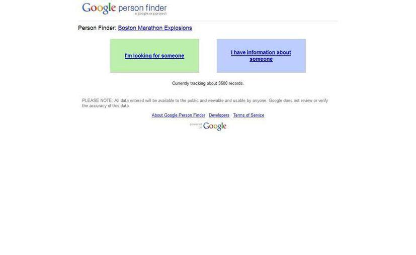 """Google puso a disposición un """"Person Finder"""". (google.org)"""