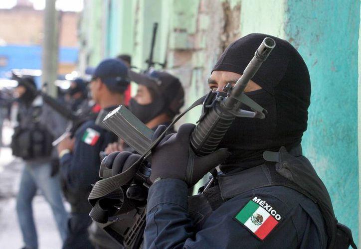 Policías realizaron un operativo tras el ataque en Tamaulipas. (Agencias)
