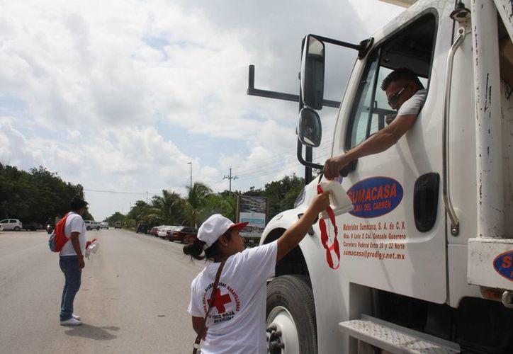La colecta de la Cruz Roja inició este 7 de marzo y concluirá el 7 de mayo. (Sara Cauich/SIPSE)