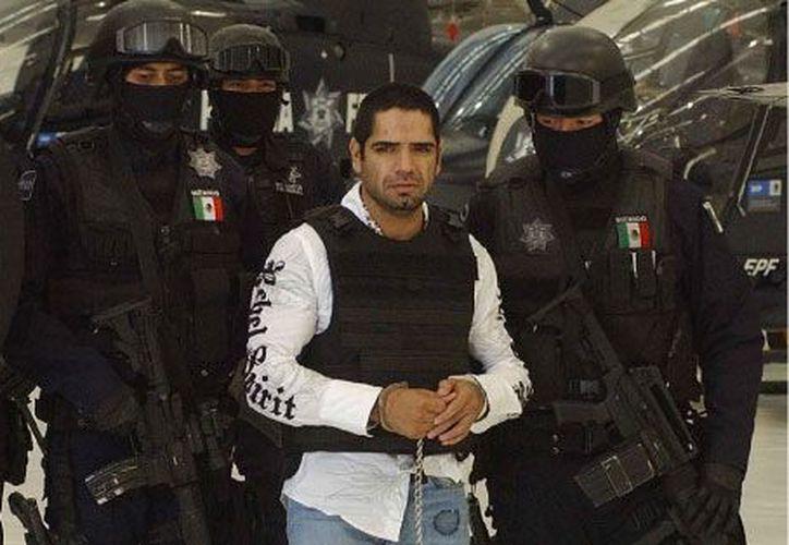 José Antonio Acosta Hernández, (a) 'el Diego', fue uno de los líderes de 'La Línea' arrestados por la SSP. (Notimex)