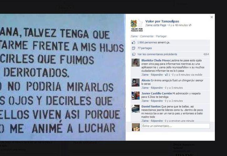 Con esta imagen, el administrador de Valor por Tamaulipas se despide de sus seguidores. (Captura de pantalla)