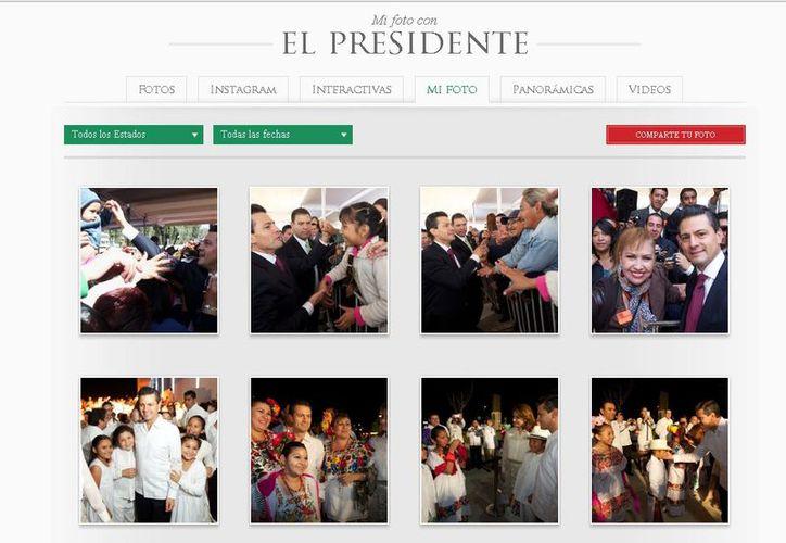 El sitio web de la Presidencia de la República donde aparece la sección. (captura de pantalla)