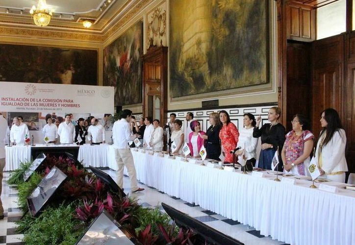 La Comisión para la Igualdad entre Mujeres y Hombres se instaló en las Conferencia Nacional de Gobernadores. (Cortesía)