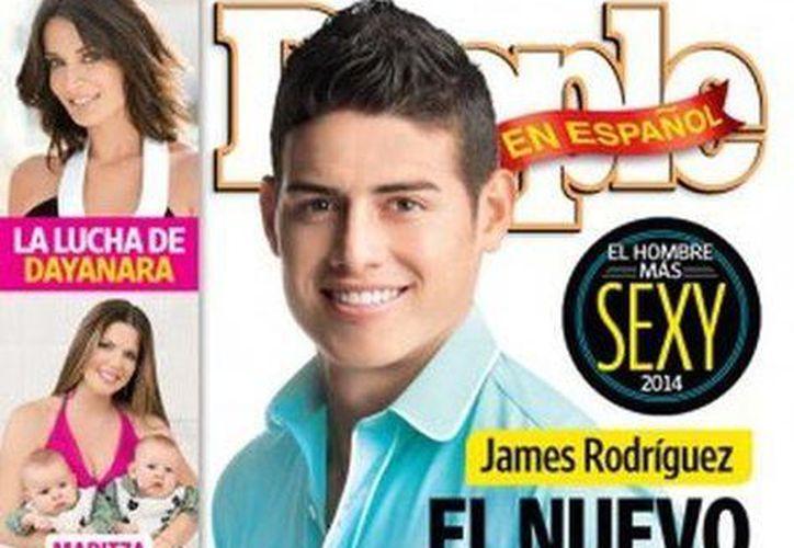 Portada de la revista People en español en la que aparece el futbolista colombiano James Rodríguez. (la-razon.com)
