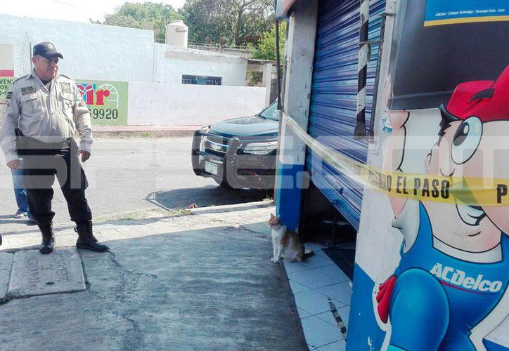La tlapalería asaltada se encuentra en el sur de la ciudad. (Fotografía: Aldo Pallota/SIPSE)