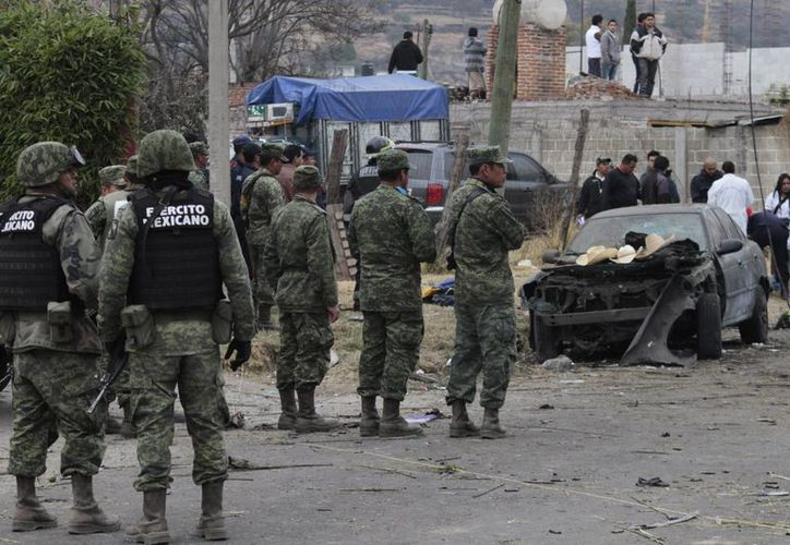 Elementos del Ejército mexicano llegaron al lugar de la explosión. (Notimex)