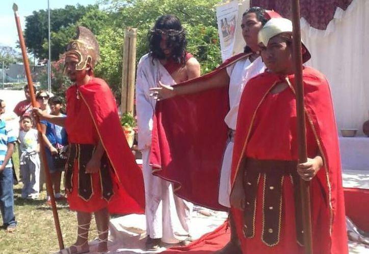 Jesús es condenado a muerte en la Primera Estación. (Archivo/SIPSE)