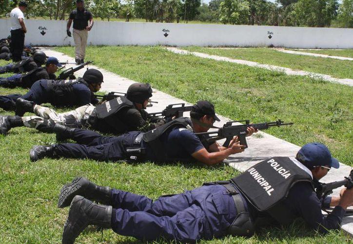 Los recursos se destinarán para la adquisición de por lo menos 20 armas largas para los policías municipales. (Harold Alcocer/SIPSE)
