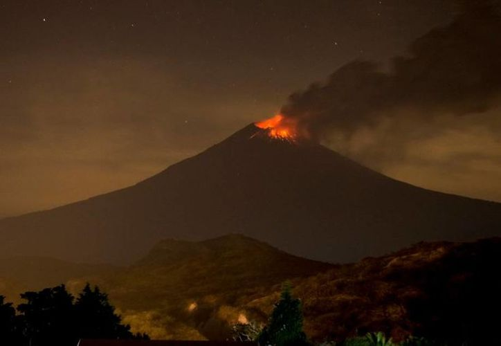 Imagen del 1 de diciembre del Popocatépetl publicada por Webcams de México. (twitter.com/webcamsdemexico)