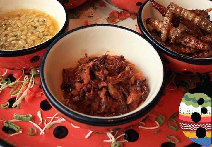 'La Catarina' ofrece botanas prehispánicas como chapulines a la mexicana, escamoles con mantequilla y mezcal al aroma de epazote y gusanos de maguey fritos con guacamole y pico de gallo.(facebook.com/LaCatarinaMty)