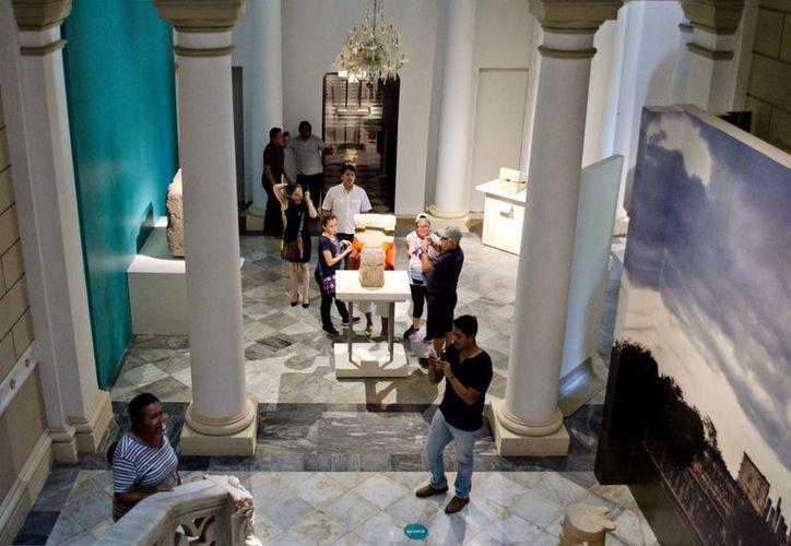 """La vida de los mayas, sobre todo de las ciudades del oriente de Yucatán, puede conocerse a través de la exposición """"Lak'iin, poderío del oriente maya"""", en el Palacio Cantón. (Cortesía)"""
