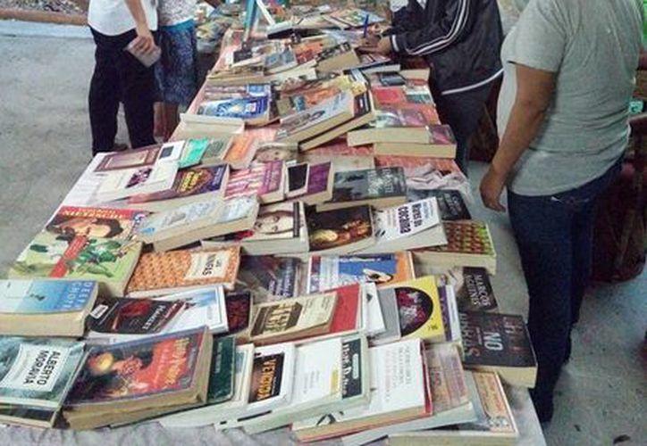 La iniciativa 'Libros Libres' realiza actividades para fomentar la lectura en Playa del Carmen. (Octavio Martínez/SIPSE)