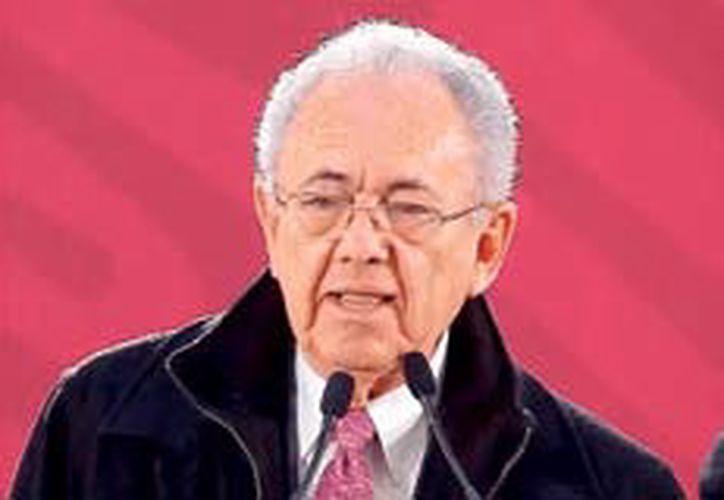 Javier Jiménez Espriú, secretario de Comunicaciones y Transportes, acompañó al presidente de México, Andrés Manuel López Obrador. (Redacción/SIPSE)
