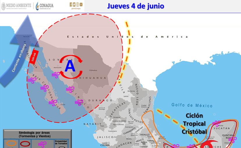Clima Cancún Quintana Roo 4 de junio de 2020 (Conagua)