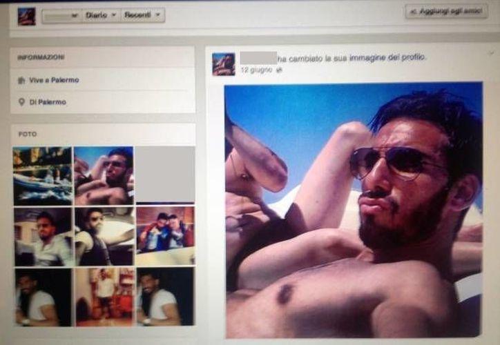 Domenico Palazzotto, joven mafioso de Palermo, Italia, solía presumir sus paseos en yate por medio de una cuenta de Facebook. (L´Espresso)