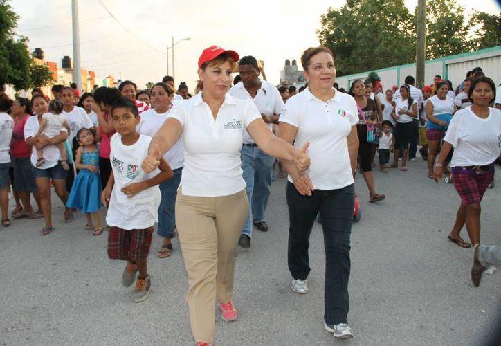 Susana Hurtado Vallejo recorrió la región 259 de Cancún. (Cortesía/SIPSE)