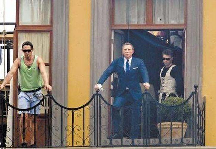 La próxima semana continuará el rodaje de Spectre en las calles de la Ciudad de México. En la imagen aparece Daniel Craig, protagonista de la saga. (Milenio)