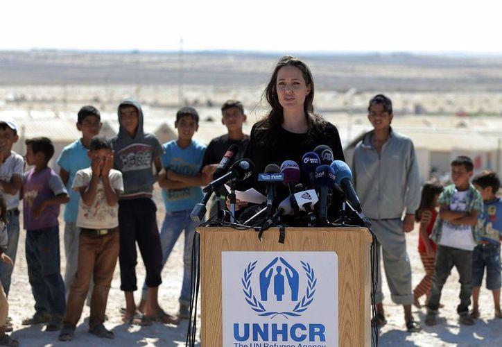 Por el momento hay un total de 5 millones de sirios que han escapado de su país .(Ahmad Alameen/AP)