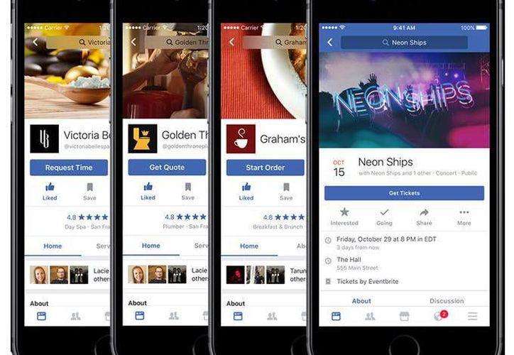 Por el momento, los servicios estarán disponibles solo para los usuarios en Estados Unidos. (Facebook)