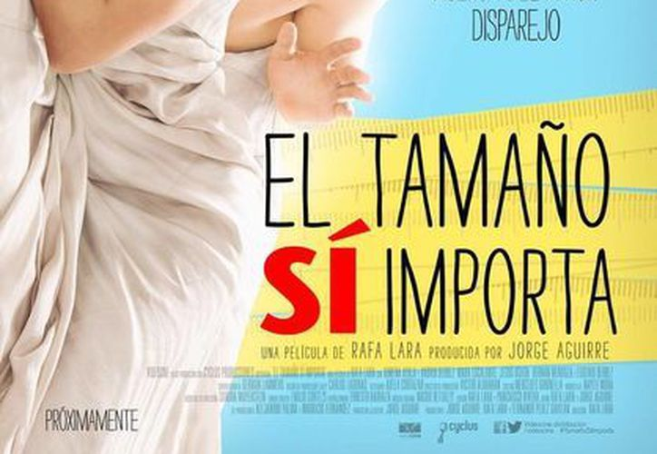 Cartel promocional de la película <i>El tamaño sí importa</i>, con la que Vadhir Derbéz debuta en la pantalla grande. (Twitter: @vadhirderbez)