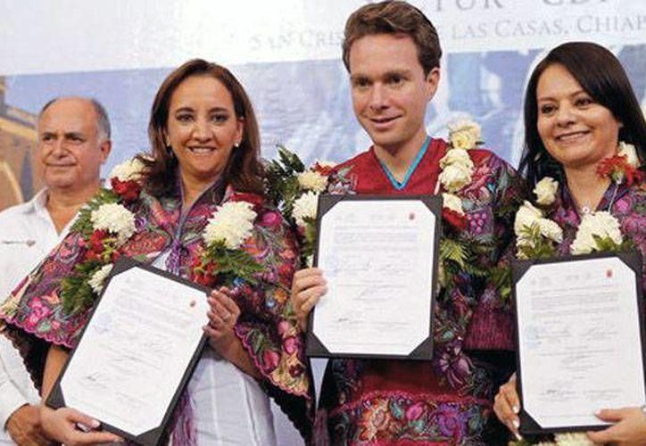 Manuel Velasco reconoció el esfuerzo de los empresarios turísticos. (Foto: Cortesía)